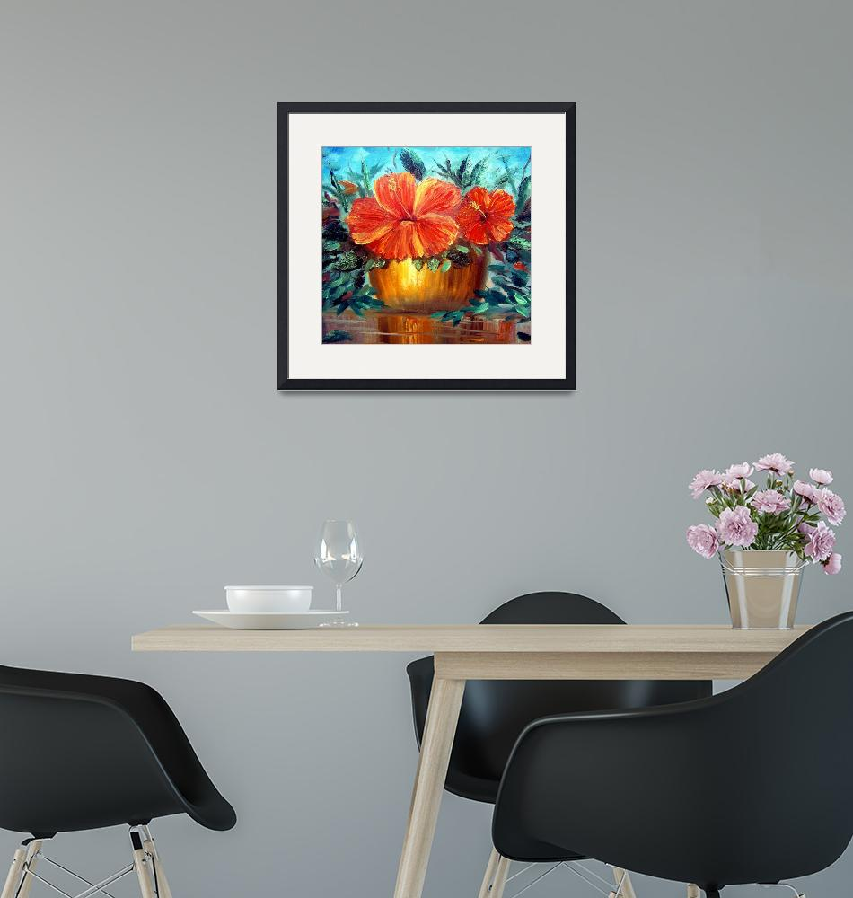 """""""Hibiscus Painting""""  (2009) by mazz"""