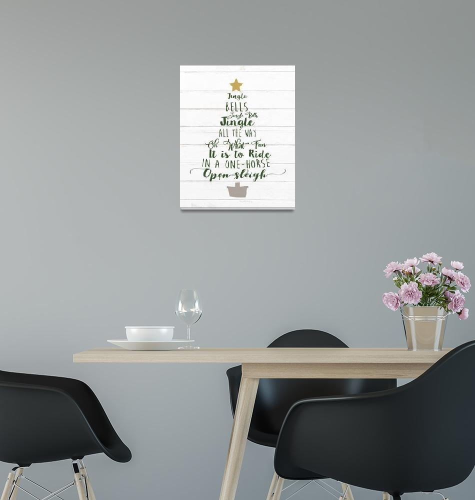 """Jingle Bells Tree Green 1""  by miscstudios"