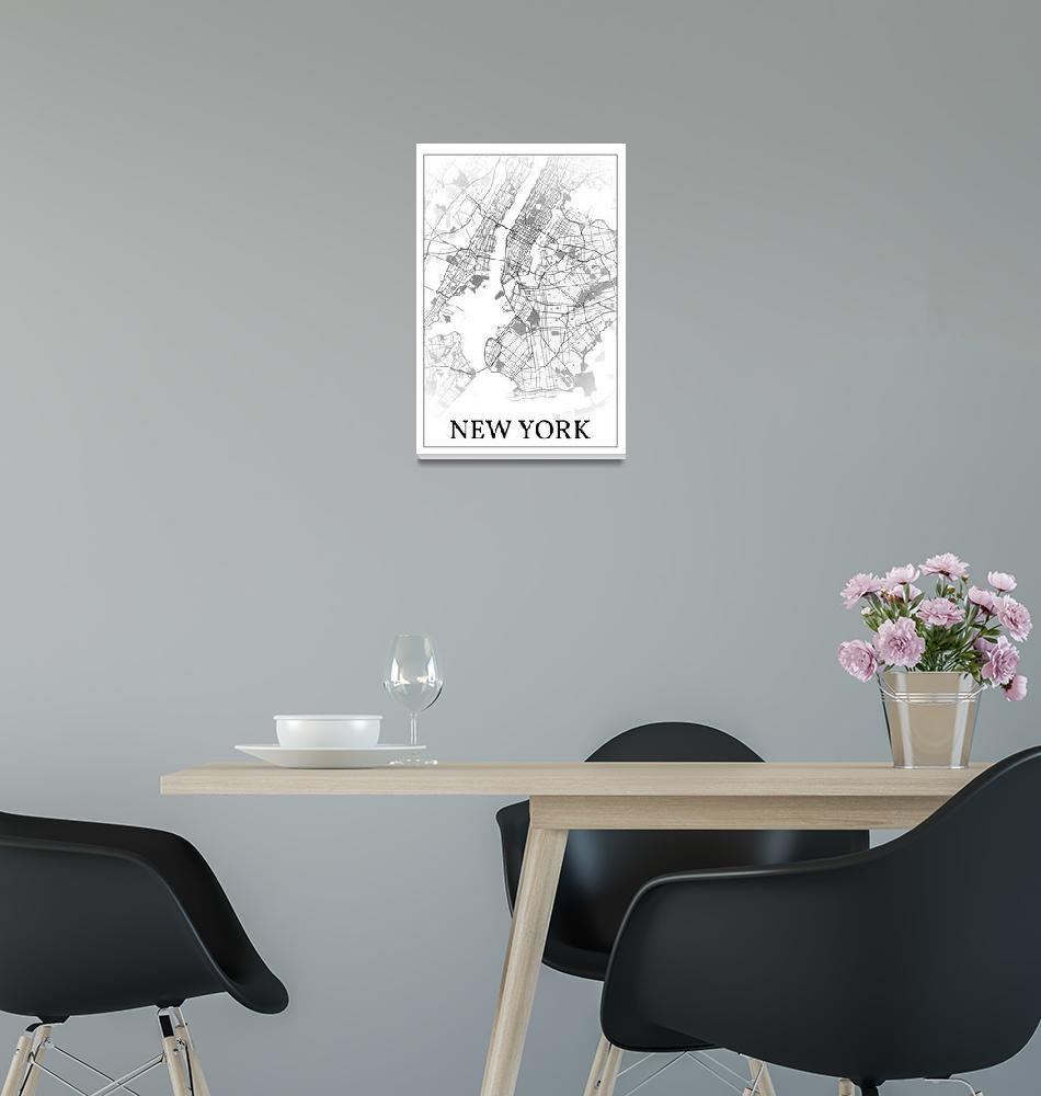 """New York City, New York, USA, city map print.""  by dandistudio"