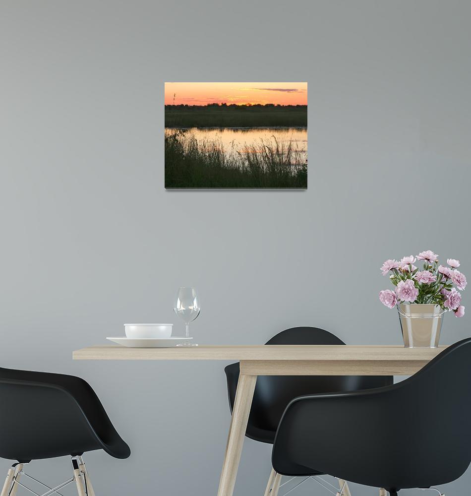 """""""River Sunset""""  by KarenZukRosenblatt"""