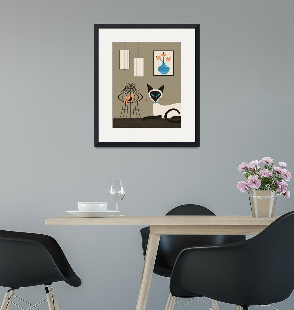 """""""Mid Century Siamese on Tabletop 3"""" by DMibus"""