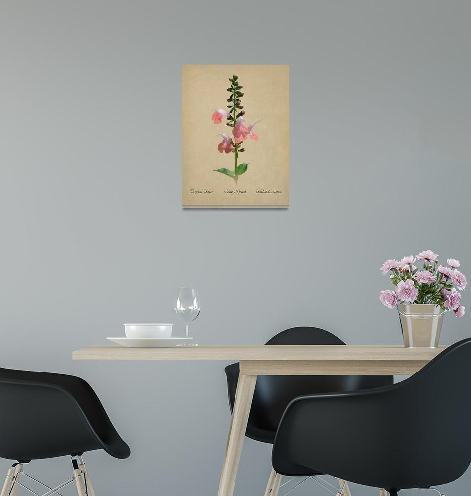 """Tropical Sage Botanical""  (2018) by spadecaller"