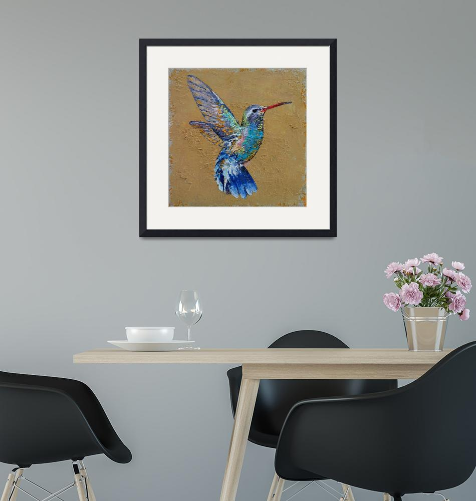 """Turquoise Hummingbird""  by creese"