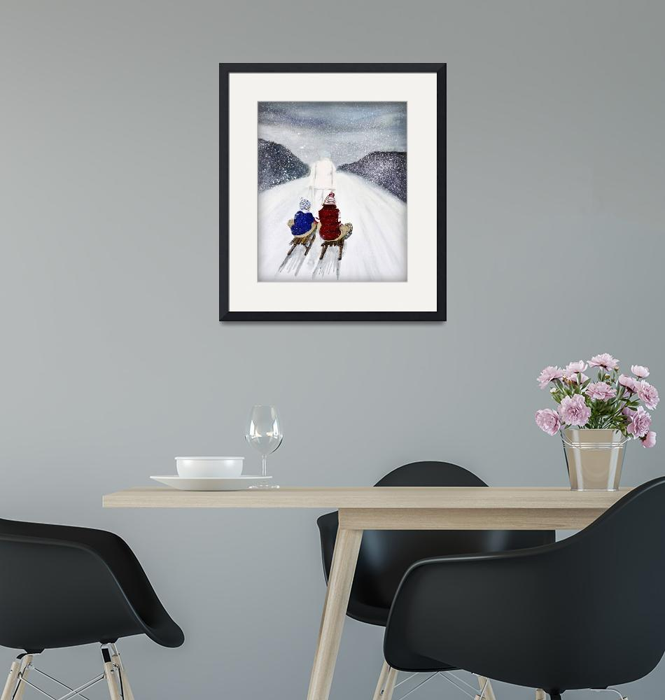 """""""snow storm painting - christmas card""""  by Spangles44"""