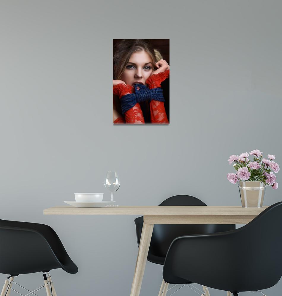 """Bite me - Beauty Portrait - Fine Art of Bondage""  (2015) by RodMeier"