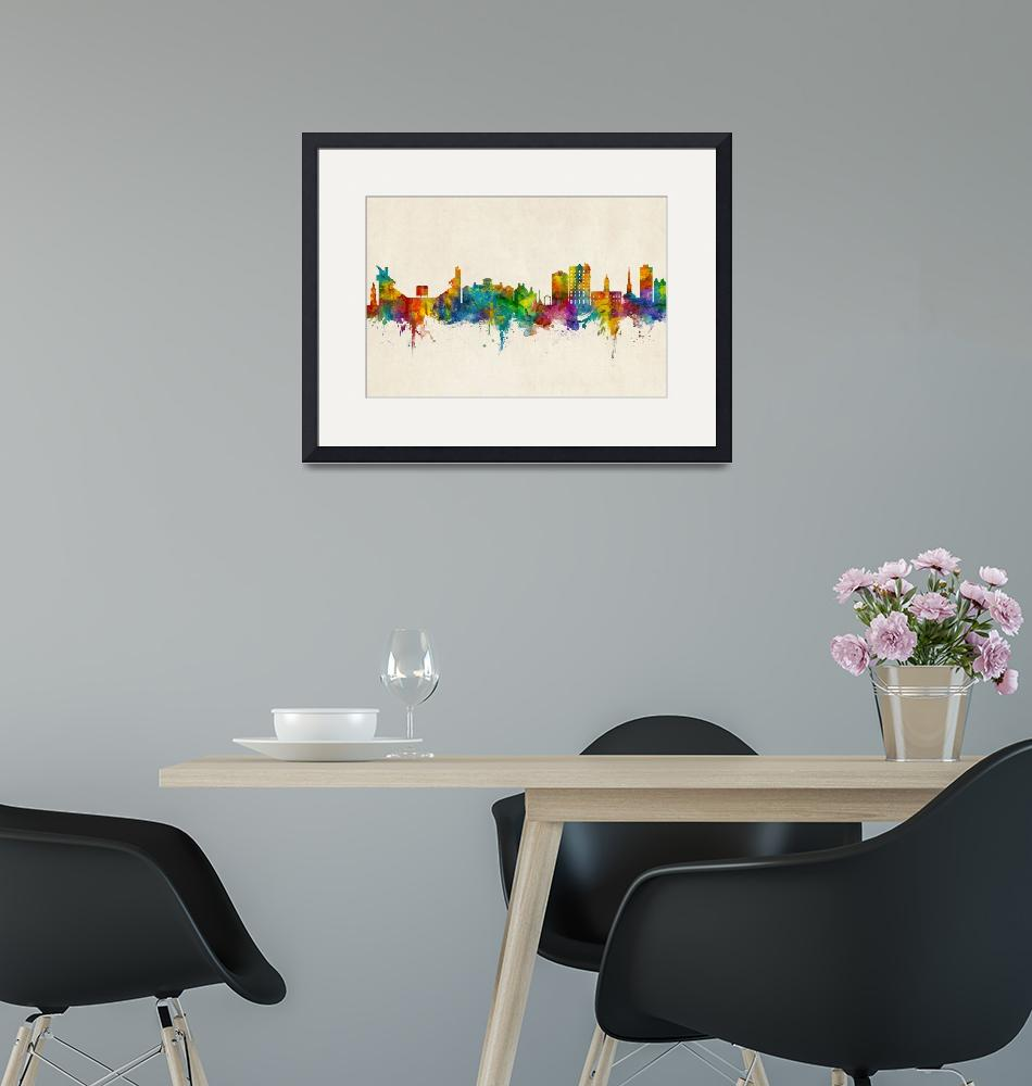 """Athens Georgia Skyline""  (2019) by ModernArtPrints"