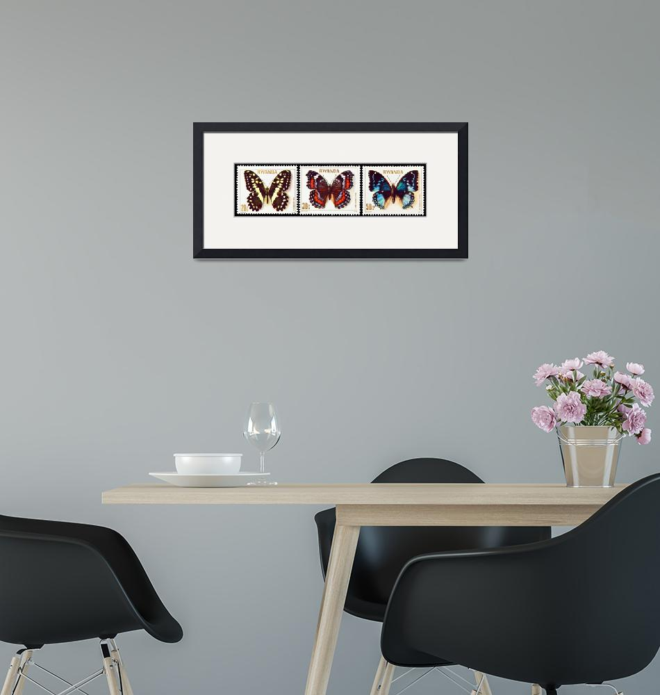 """Collection of butterflies stamps.""  by FernandoBarozza"