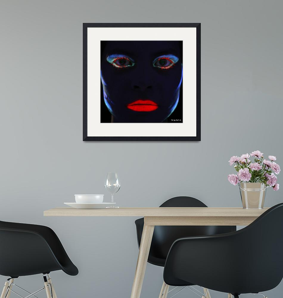 """""""Eve - lady face in """"color""""""""  (2010) by baechlergallery"""