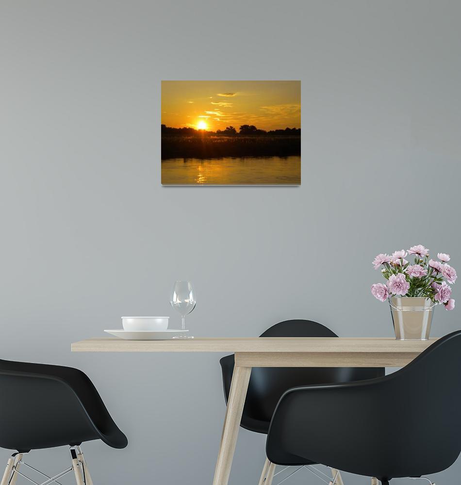 """Sunset in Chitwan 01""  (2009) by lfcnet"