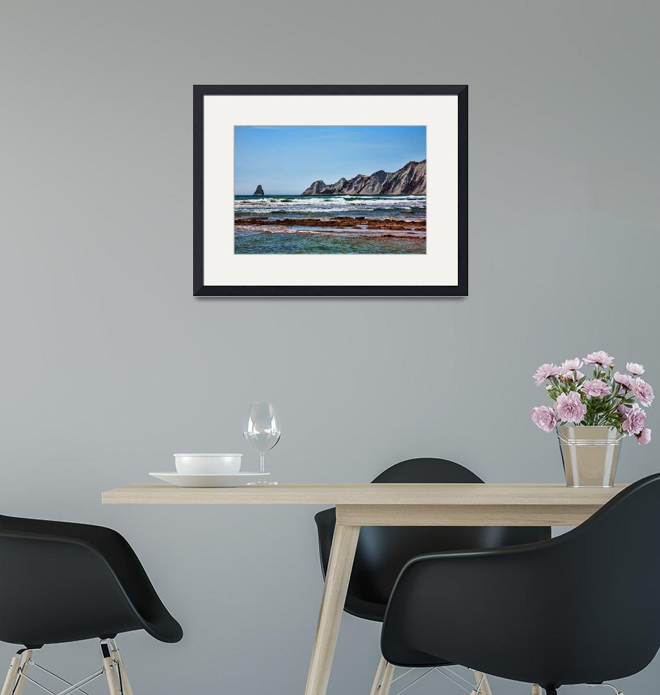 """""""Cape Kidnappers Seascape""""  (2011) by johncorney"""