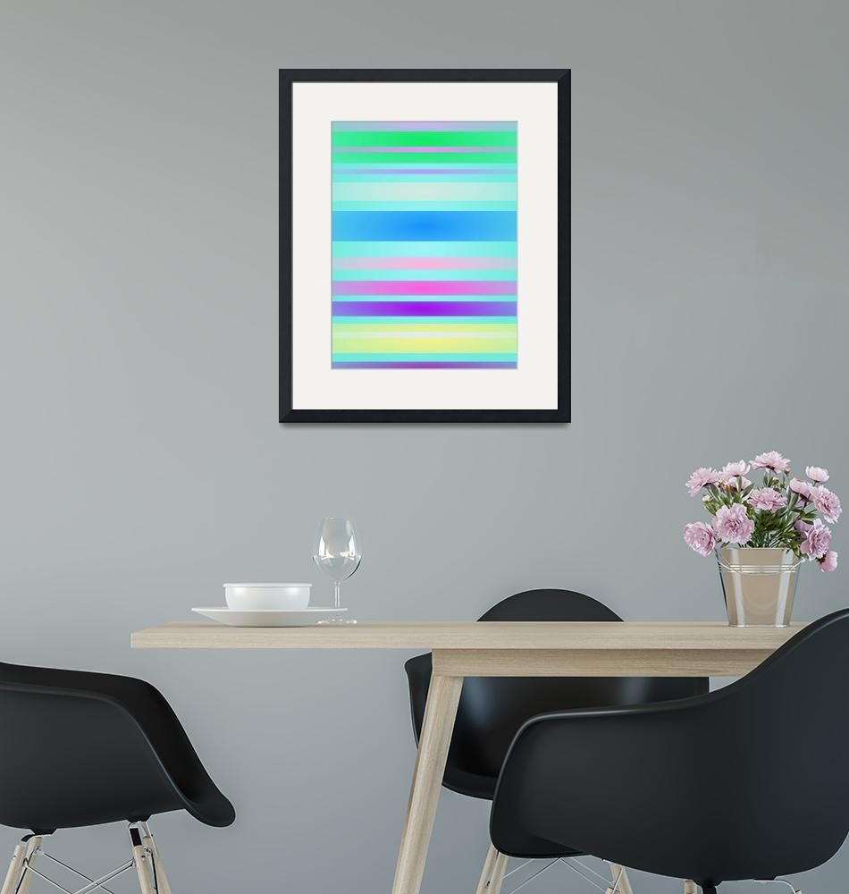 """Stripes Art Horizontal Light""  by masabo"