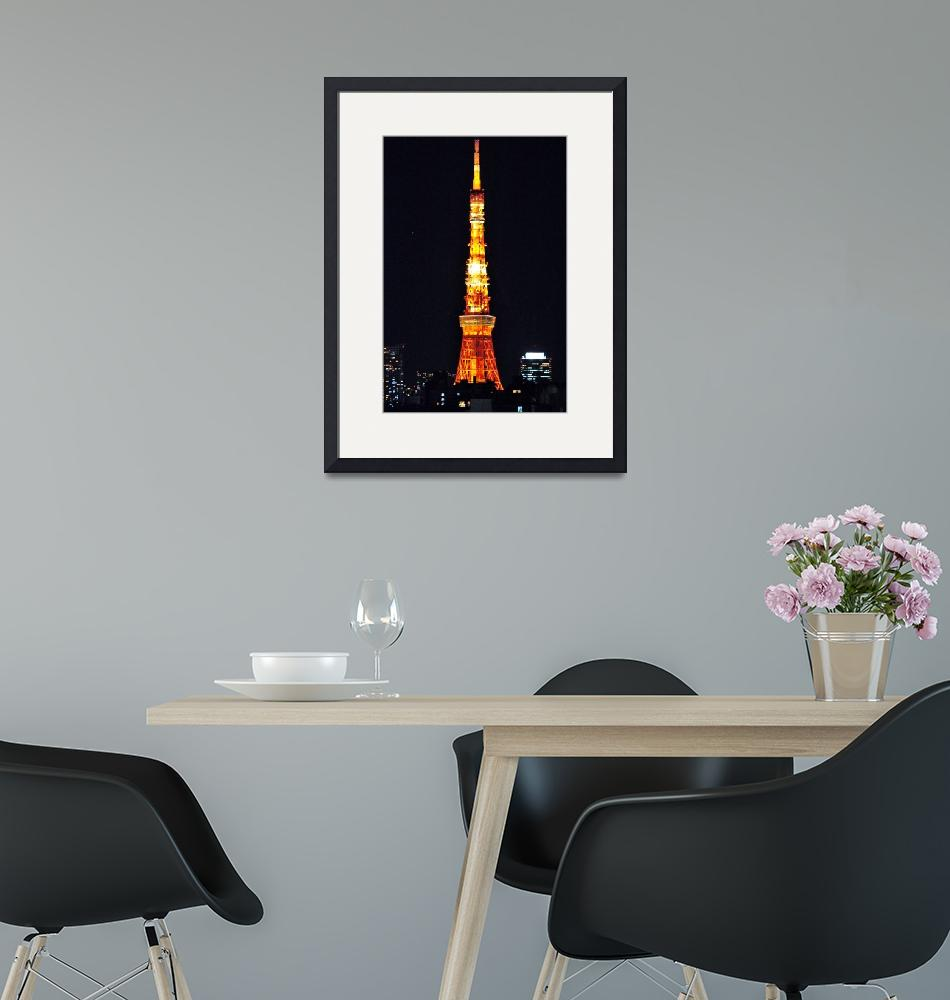 """""""Tokyo Tower by Night""""  (2012) by JoaoPonces"""