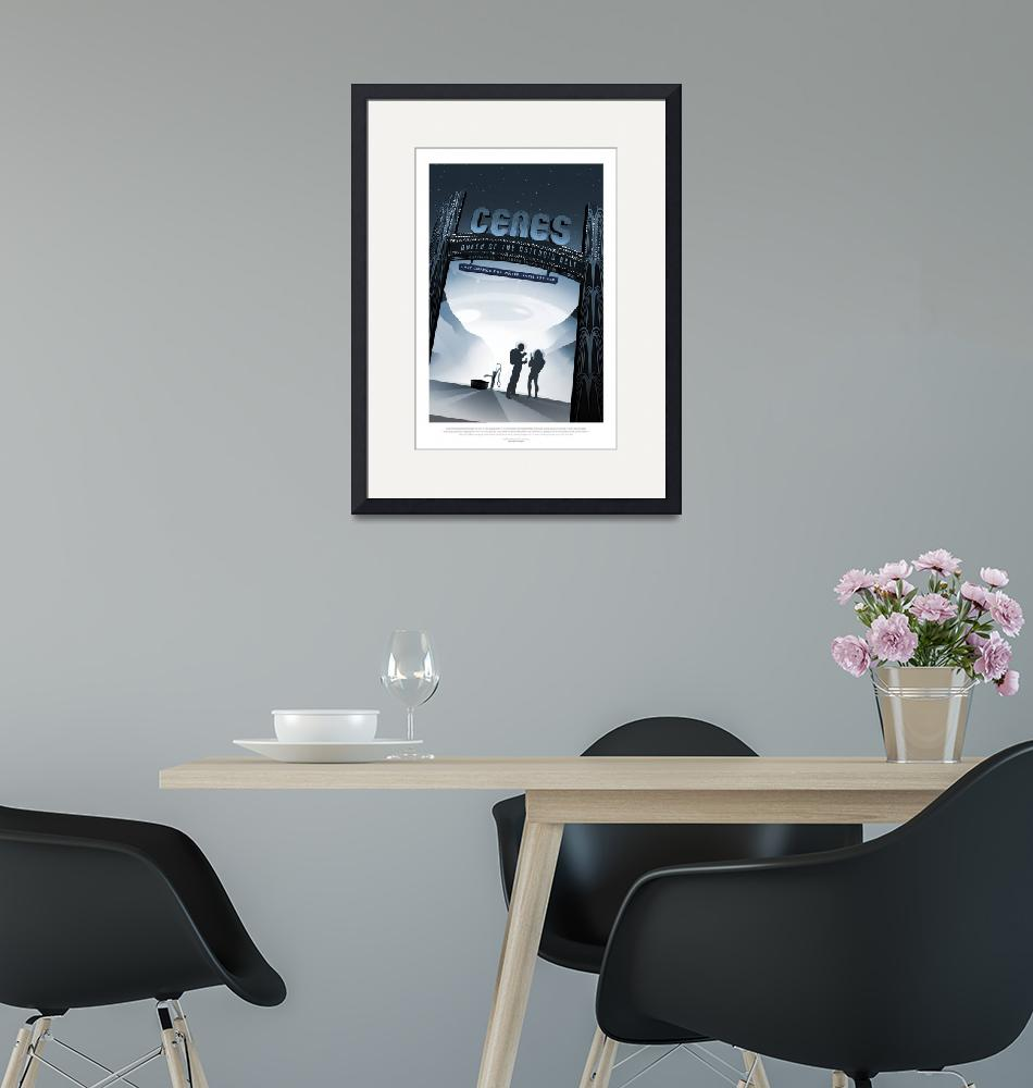 """""""NASA Ceres Space Travel Poster""""  by FineArtClassics"""
