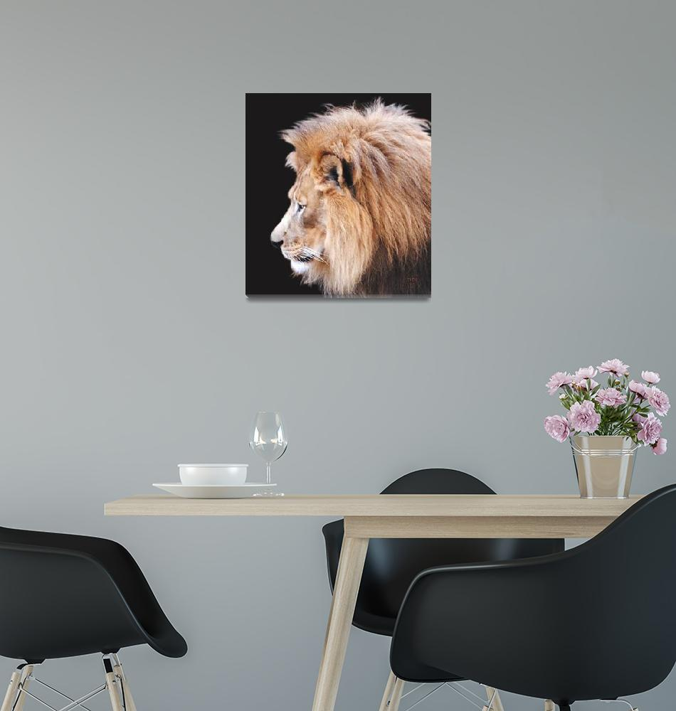 """Lion Profile""  (2011) by AnimalsbyDiDi"