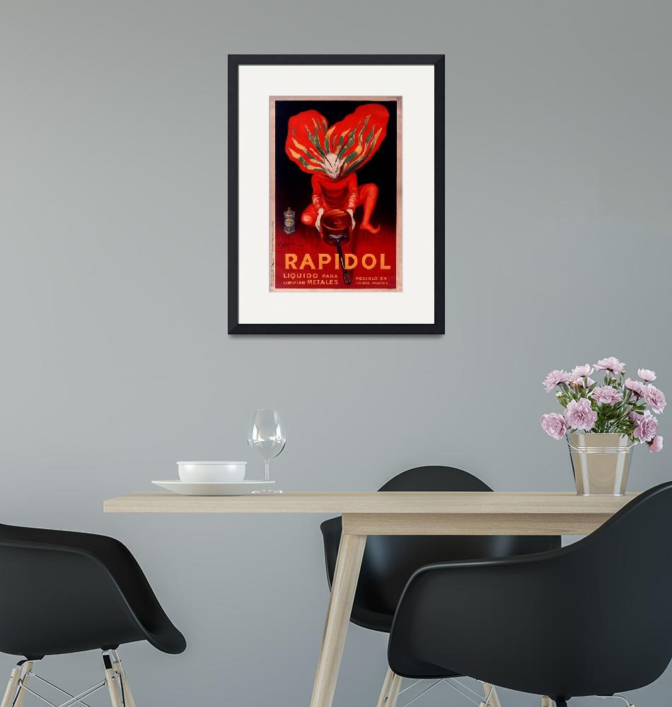 """Rapidol Metal Polish by Cappiello Vintage Poster""  by FineArtClassics"