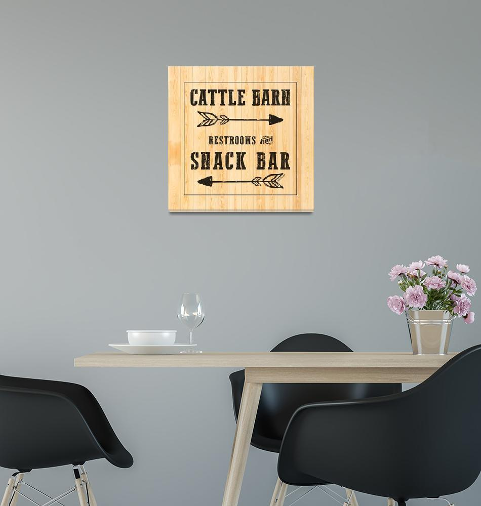 """CATTLE BARN SIGN""  (2019) by Studio8974"