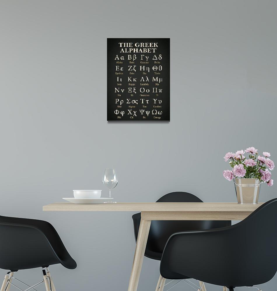 """The Greek Alphabet""  by mark-rogan"