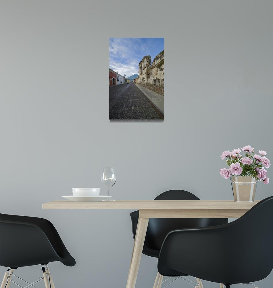 """Ruin and Volcano, Antigua Guatemala""  (2007) by dawilson"