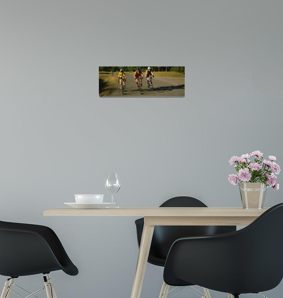 """""""Three mid adult women cycling""""  by Panoramic_Images"""