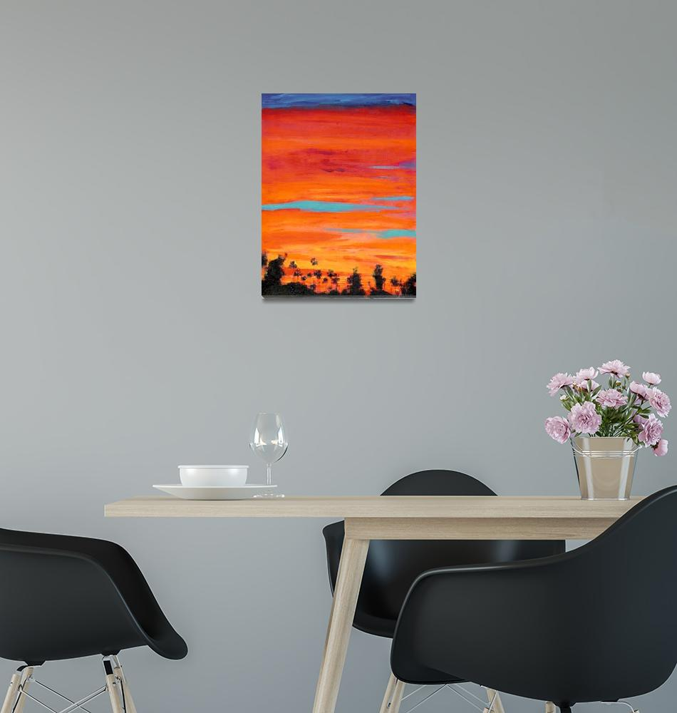 """Arizona Street Sunset San Diego California""  (2007) by RDRiccoboni"