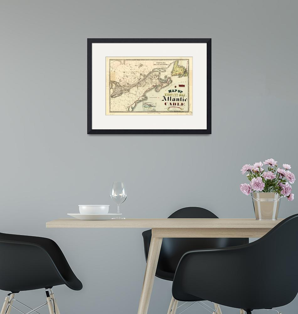 """""""Map of Trinity Bay, Telegraph Station of the Atlan""""  by ArtHistory"""