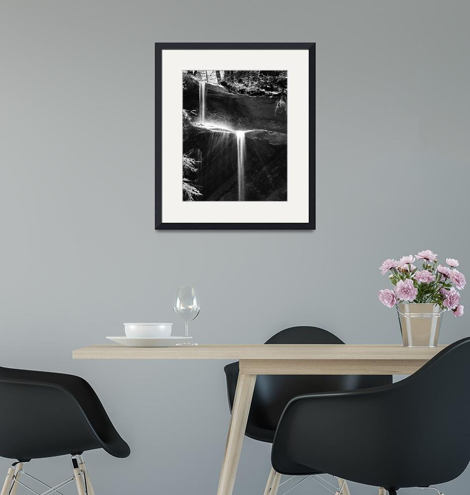 """""""molten silver waterfall in black & white""""  (2011) by Dick_Wood"""