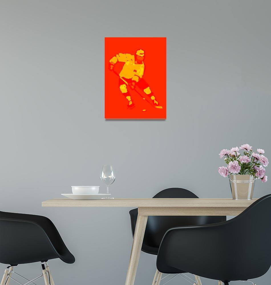 """Hockey Left Wing red orange (c)""  (2014) by edmarion"