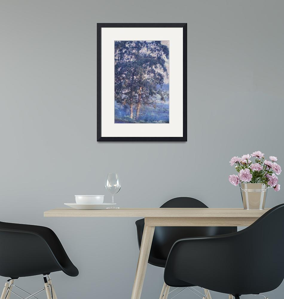 """""""Blue Trees. Monet Style""""  (2015) by JennyRainbow"""