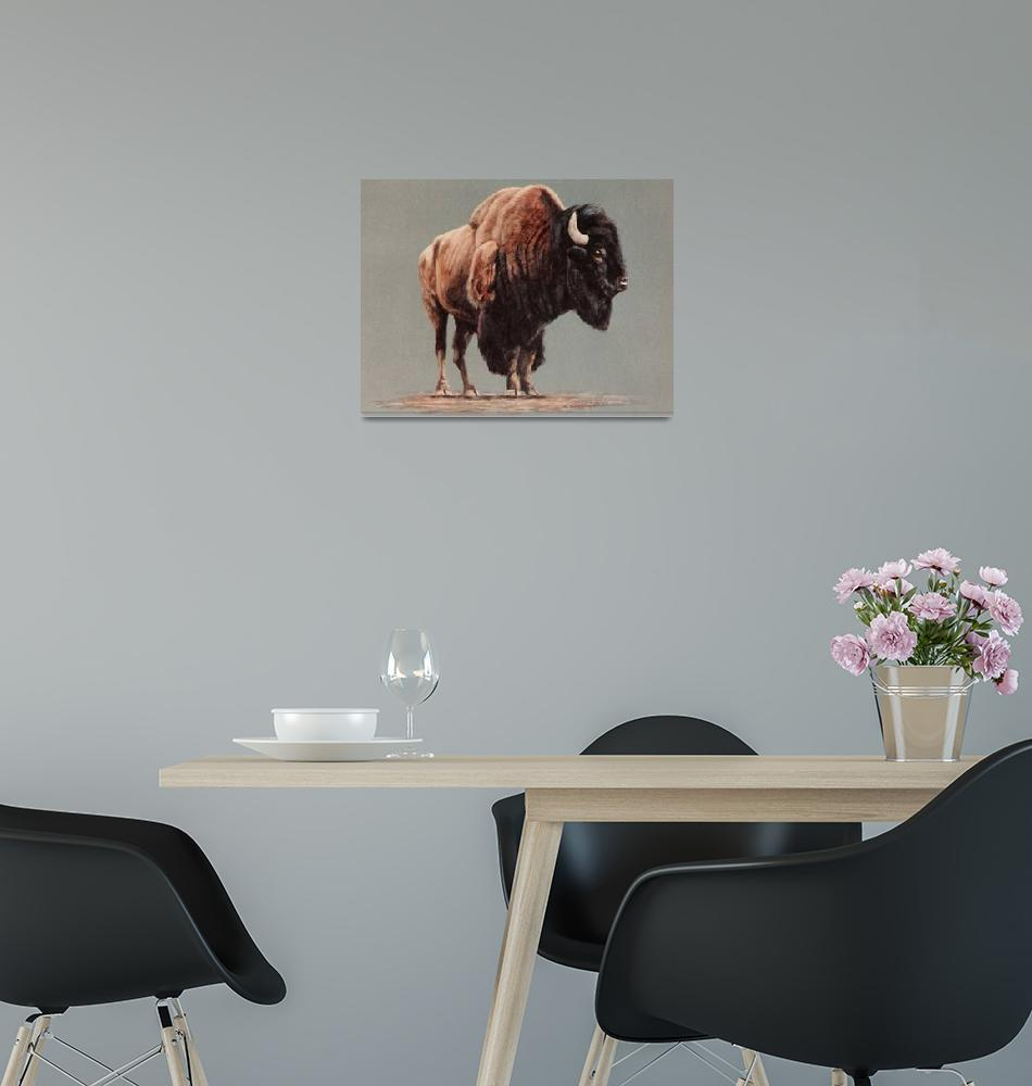 """""""American Bison painting""""  by AnimalsbyDiDi"""
