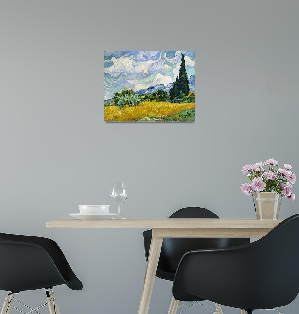 """""""Wheat Field with Cypresses by Van Gogh""""  by FineArtClassics"""