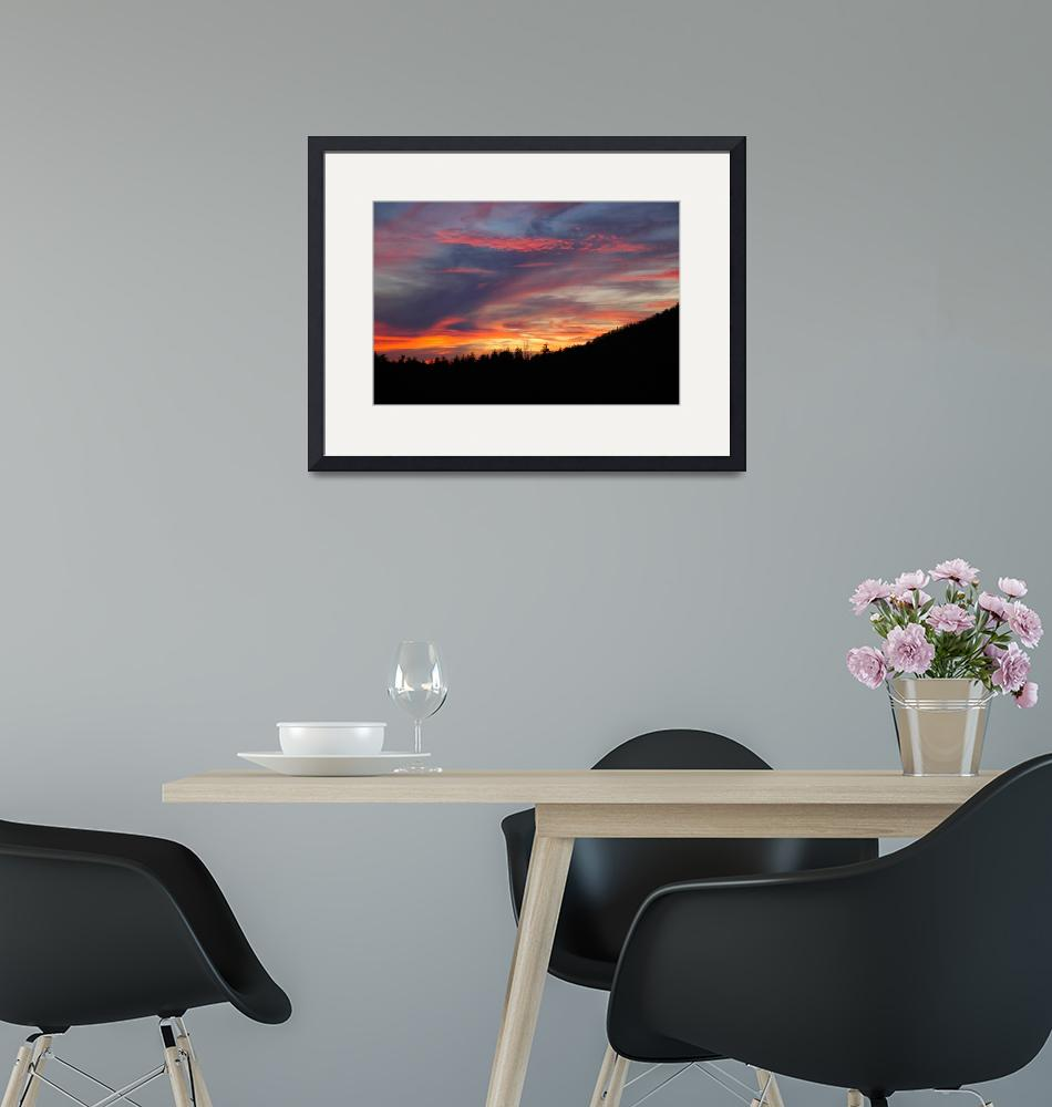 """""""Sunset in the Great Smokey Mountains""""  (2008) by SPayne"""