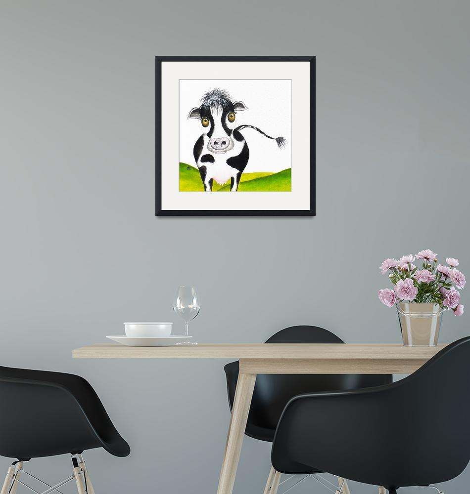 """""""Whimsical Cow""""  (2013) by oystudio"""