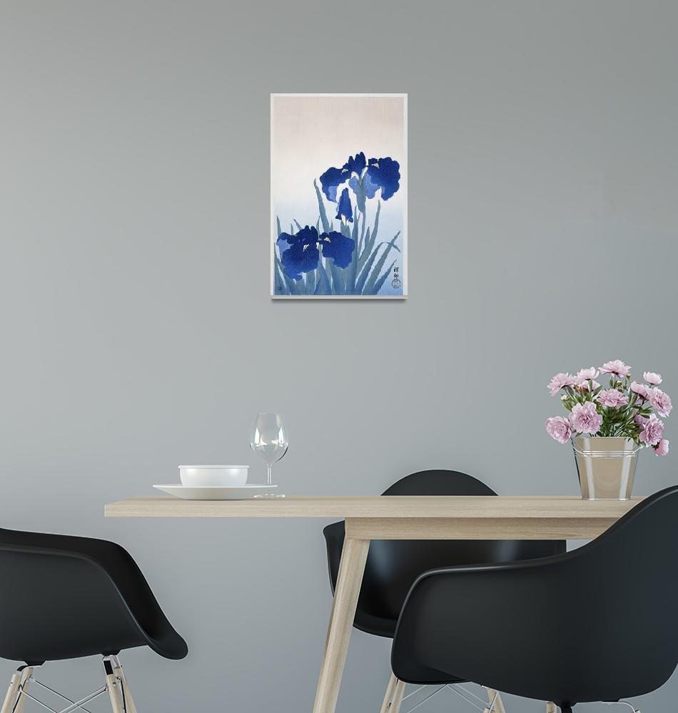 """Irises by Ohara Koson""  by FineArtClassics"
