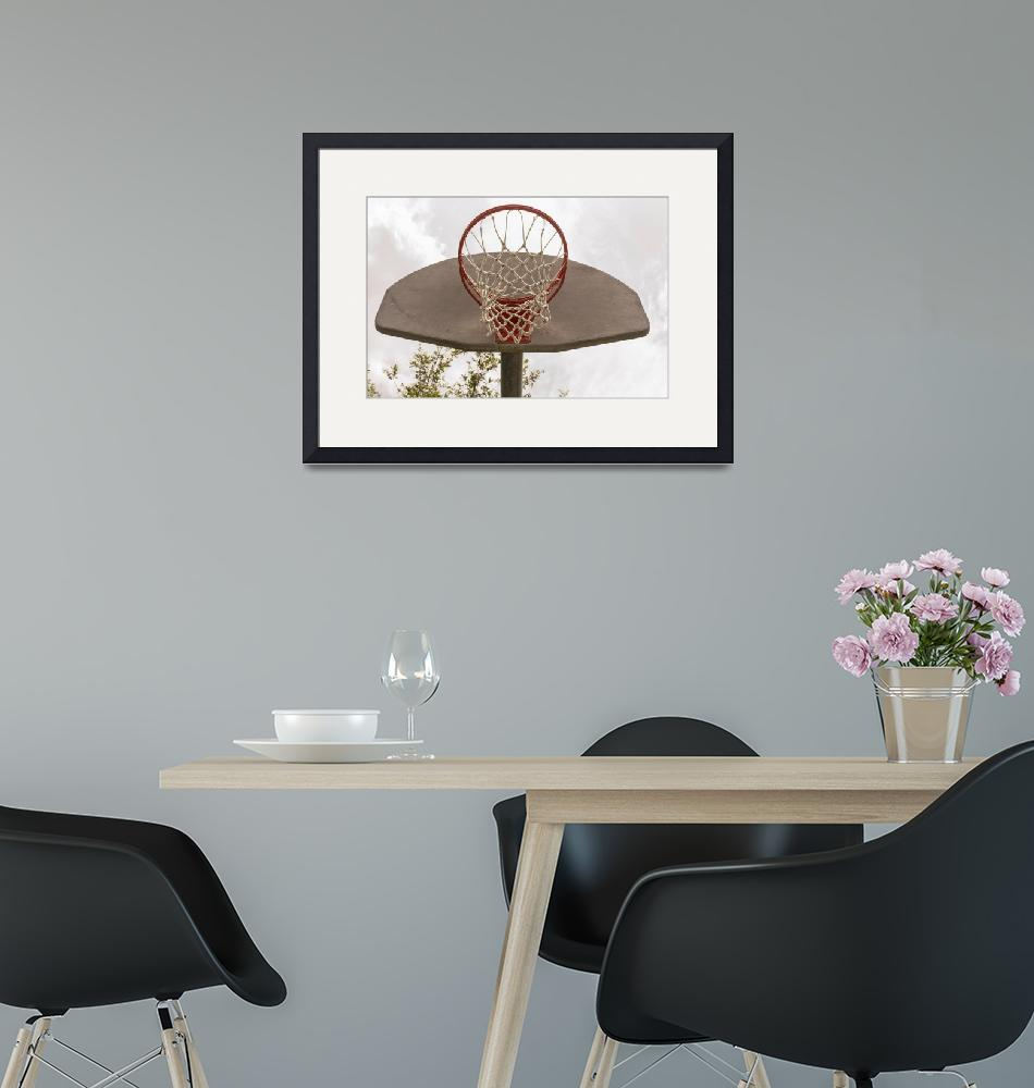 """""""Basketball Hoop Outside At A Park""""  by johnmclenaghan"""