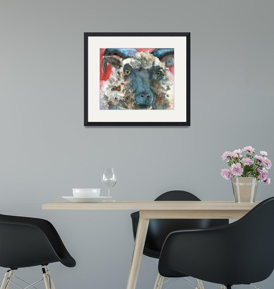 """""""Wooly Booly, Sheep Print""""  by schulmanart"""
