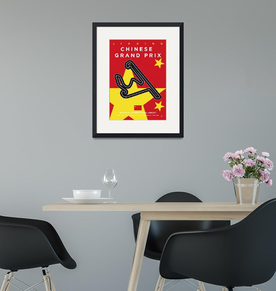 """""""My F1 Shanghai Race Track Minimal Poster""""  by Chungkong"""