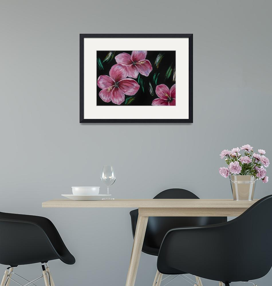 """""""Hibiscus flowers Acrylic Painting""""  by southafricaphotos"""