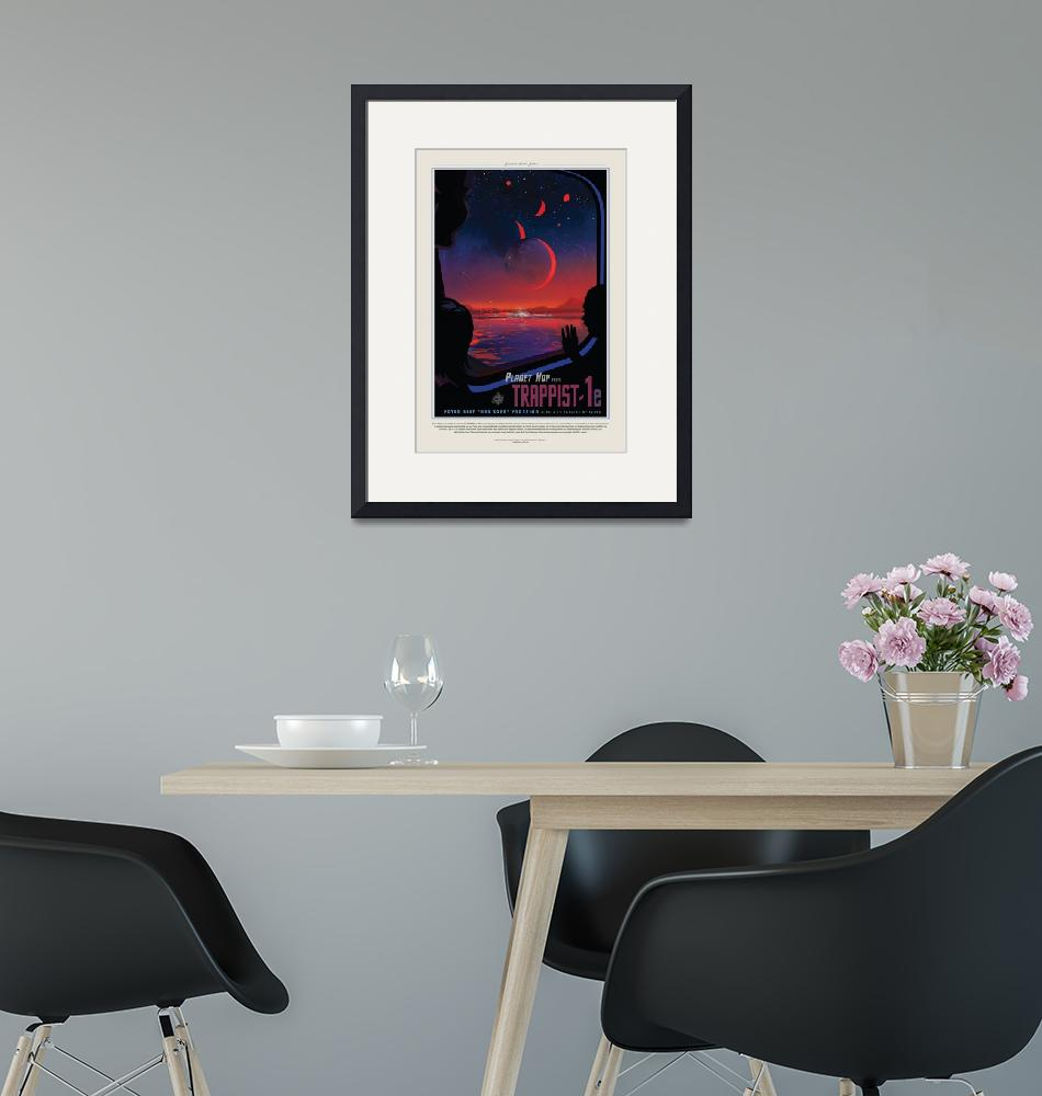 """NASA Trappist Travel Poster"" by FineArtClassics"