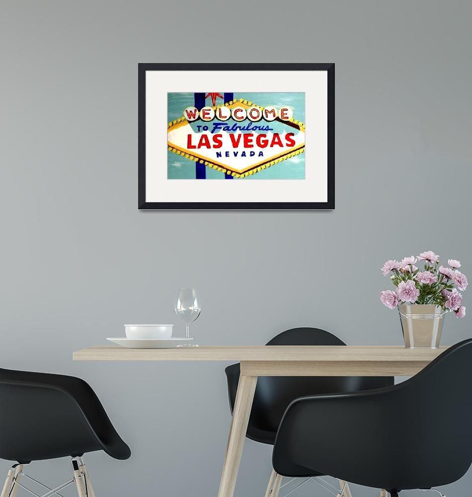 """""""WORLD FAMOUS HAND PAINTED LAS VEGAS SIGN DAYTIME""""  (2007) by teofaith"""
