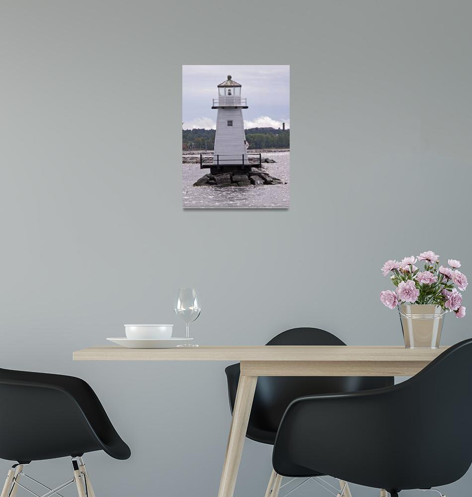 """Burlington Harbor Lighthouse I""  by MarksClickArt"