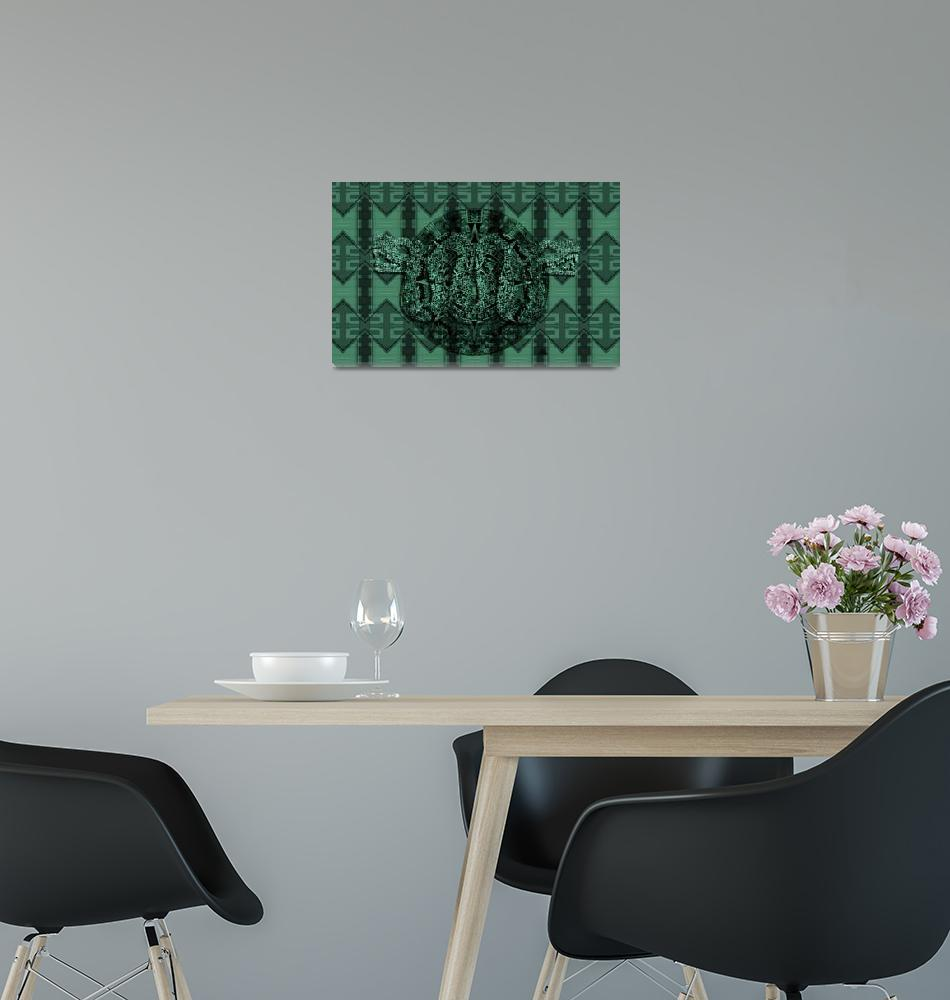 """""""Aztec Green Wall""""  (2013) by ecolosimo"""
