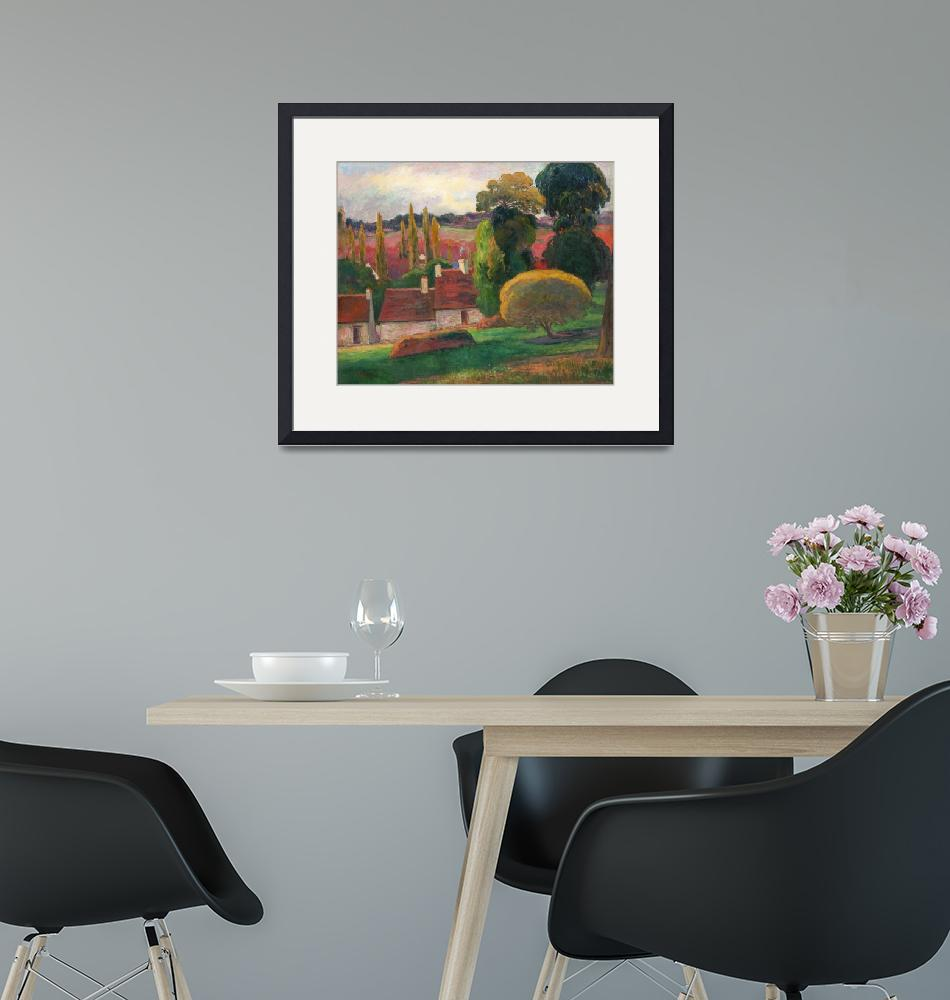 """A Farm in Brittany by Paul Gauguin""  by FineArtClassics"
