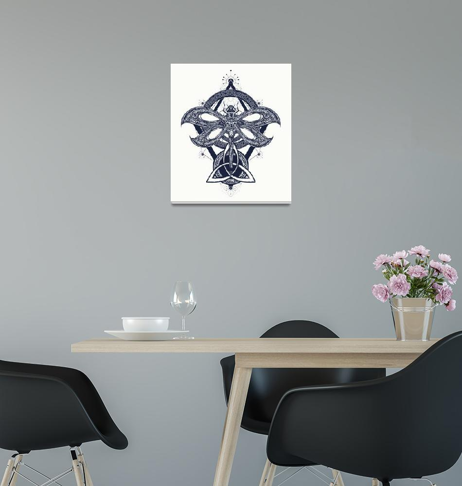"""Distinct Drawing Framed Art Print""  by buddakats1"