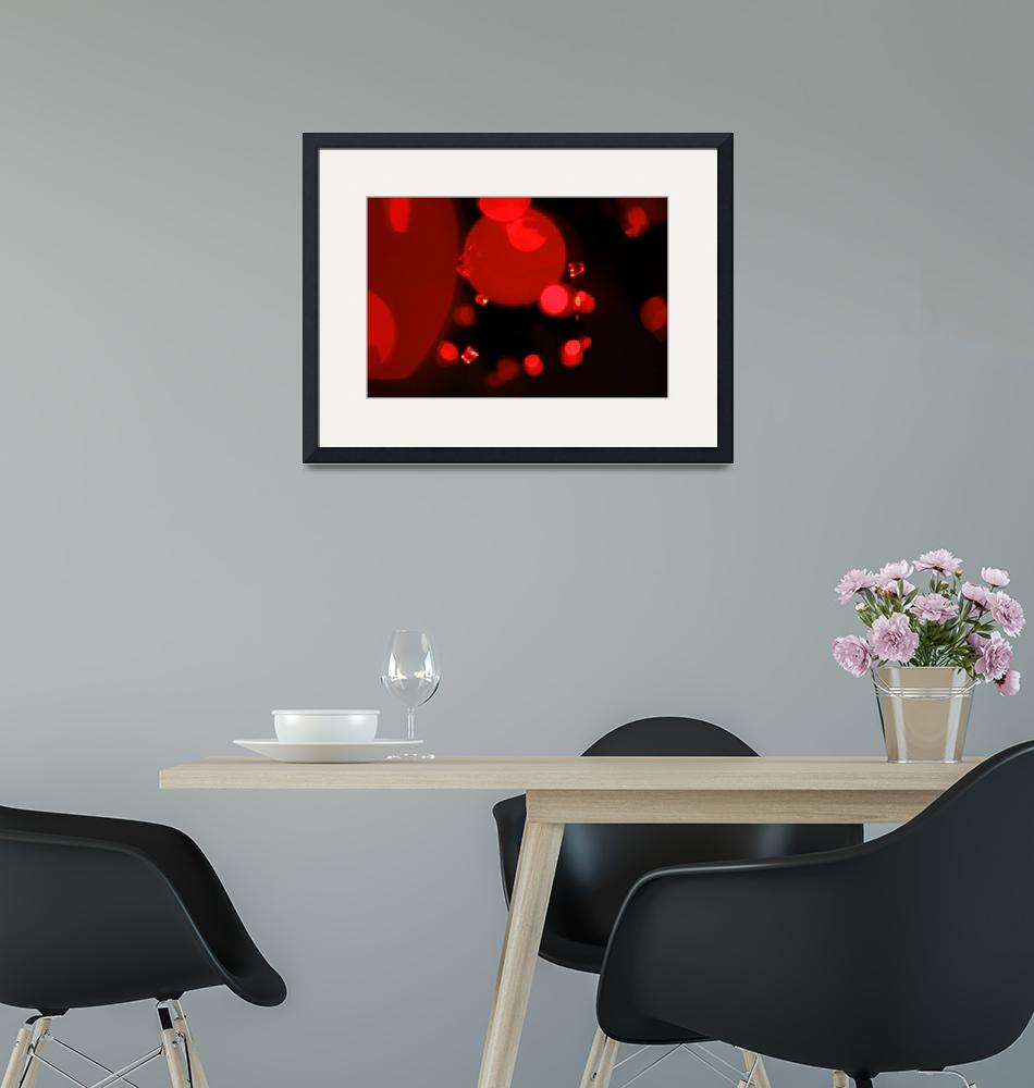"""Little Red Lights Abstract Art to Buy""  (2010) by tobiphoto"