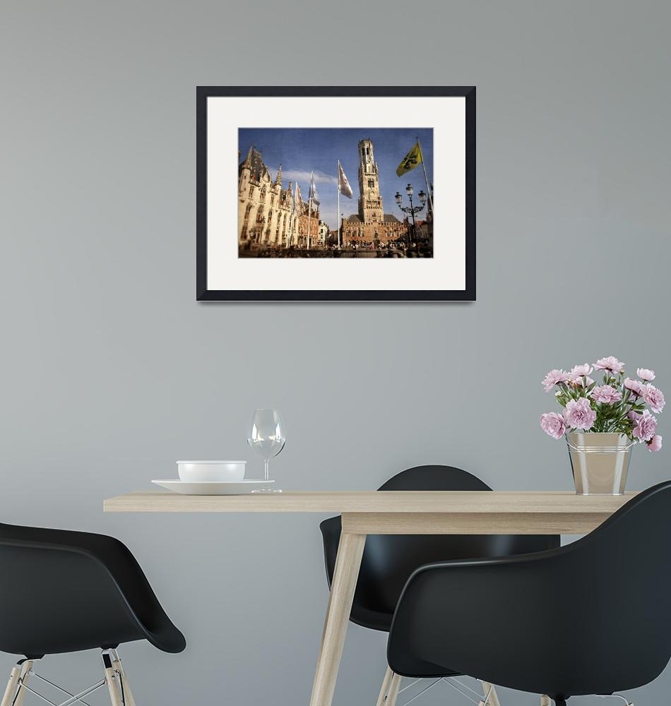 """""""Iconic buildings in Bruges, Belgium""""  (2011) by johnbragg"""