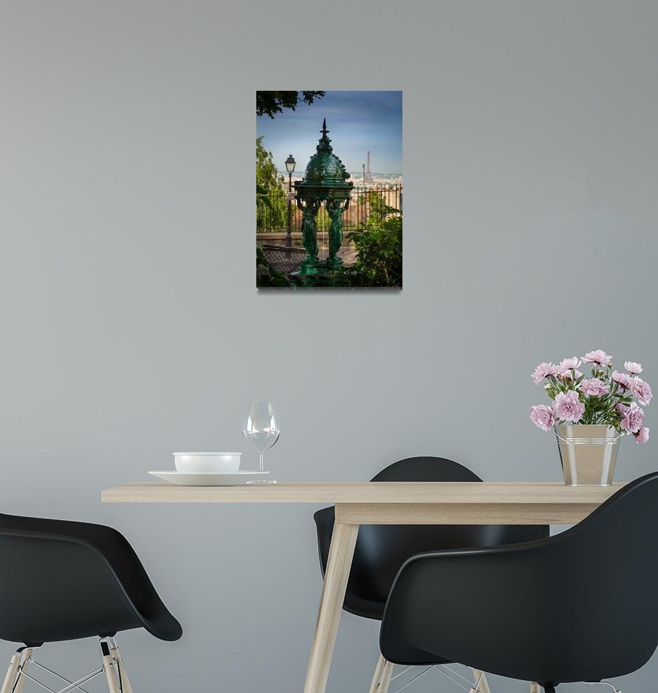 """""""Montmartre Wallace Fountain""""  (2012) by Inge-Johnsson"""