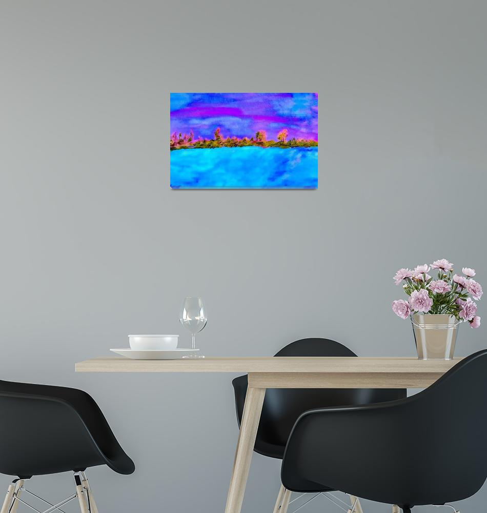 """""""Surreal Abstract Landscape""""  by EloiseArt"""
