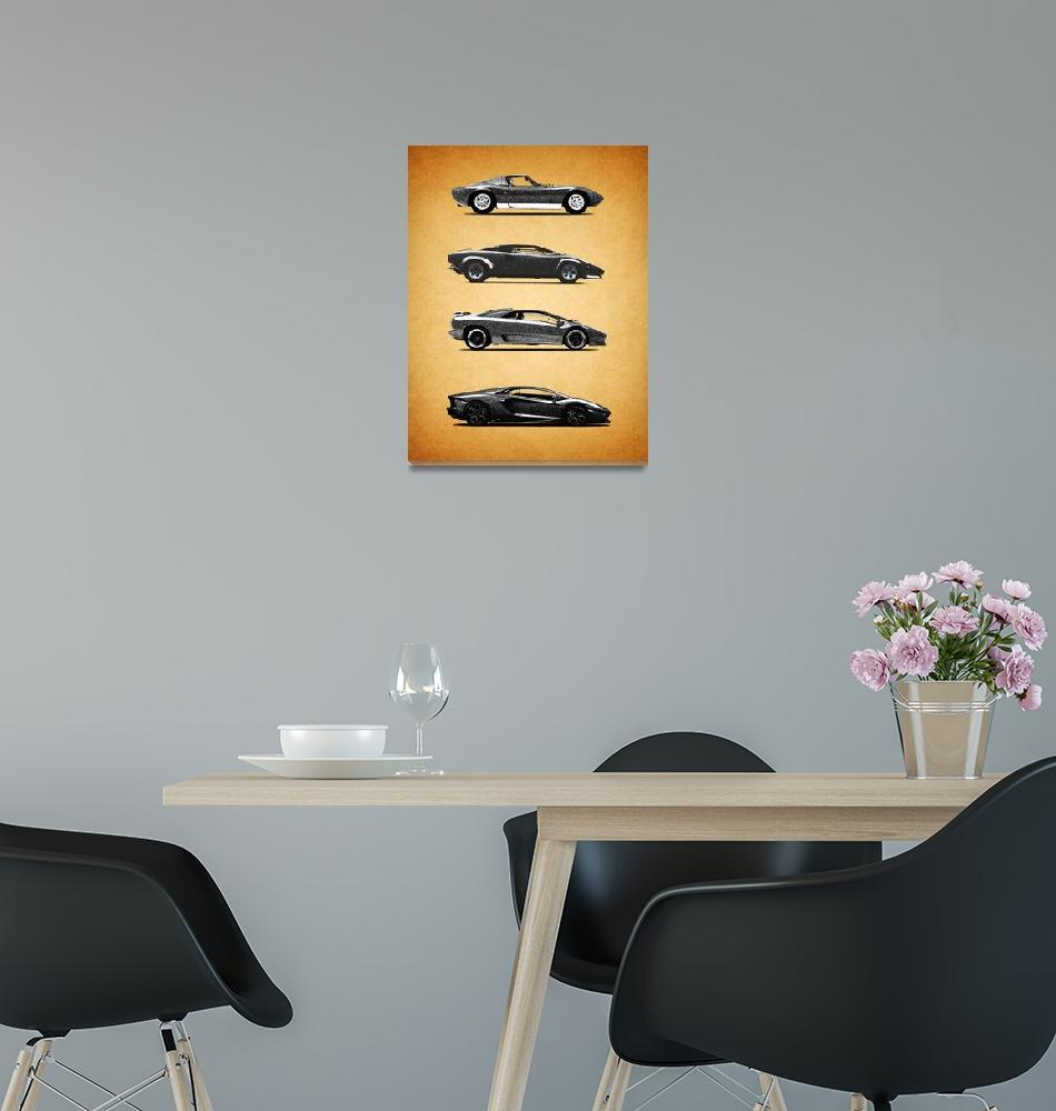 """The Lamborghini Collection""  (2015) by mark-rogan"