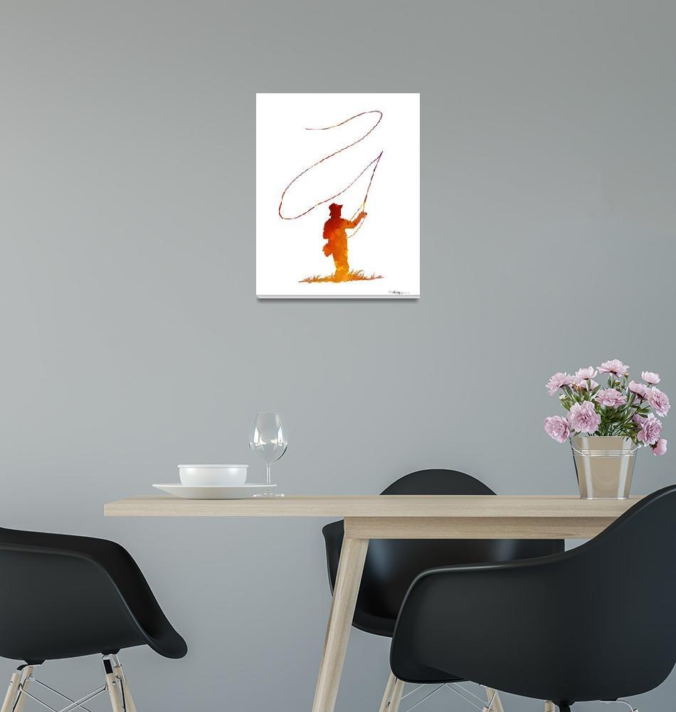 """Fly Fisherman""  (2015) by k9artgallery"