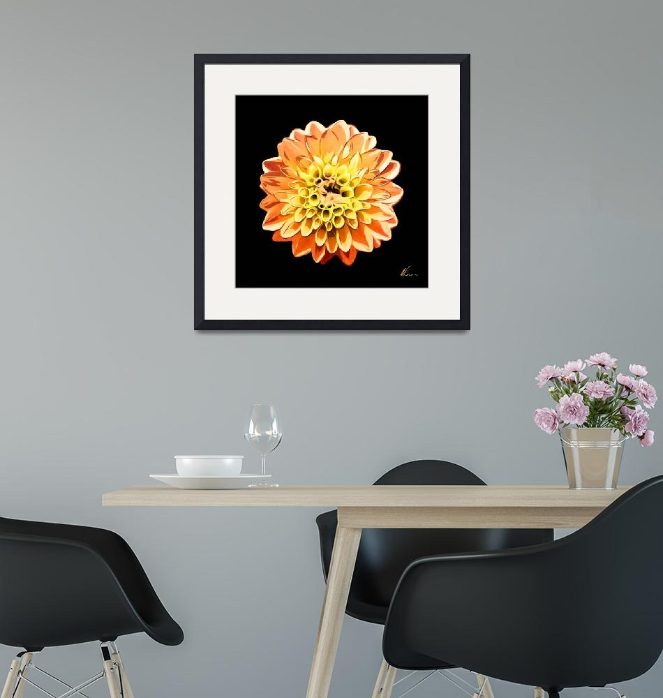 """""""Orange and Yellow Flower   Floral Art""""  (2021) by wcsmack"""